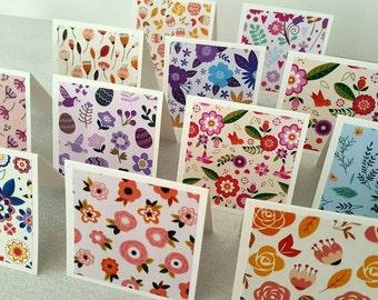 Spring cards / spring notecards / set of 12 / spring note cards / spring card