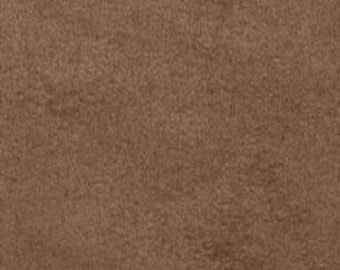 "Mocha Polyester micro faux suede upholstery fabric by the yard 60"" Wide"
