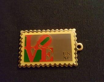 LOVE postage stamp charm USPS