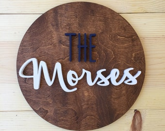 "12"" Round Sign, Wood Sign, Wood Nursery Sign, Nursery Sign, Name Cutout, Custom Wood Sign, Custom Nursery Sign"