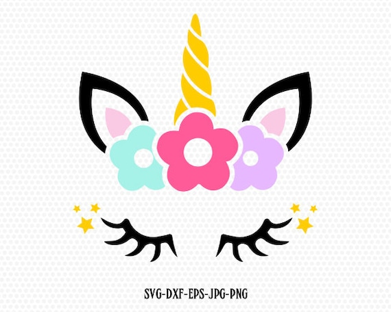 Unicorn Svg Unicorn Head Svg Unicorn With Eyelashes
