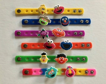 Sesame Street Party Favors, Sesame Street Birthday, Elmo Party, Big Bird, Sesame Street Party, Charm Bracelets