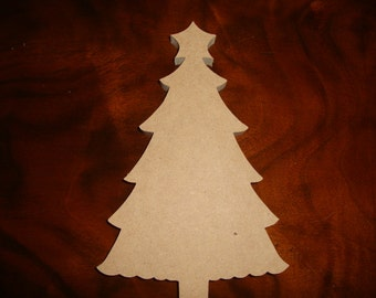 Unfinished Mdf Wood Christmas Tree Mosaic base 1/2 inch thick