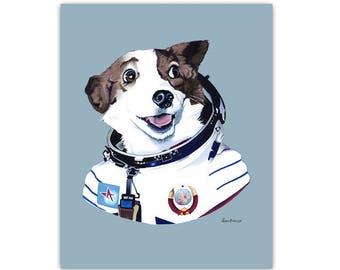 Strelka The Space Dog print 5x7