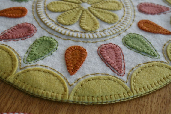 Summer Delight Pdf Penny Rug Pattern Wool Felt Applique