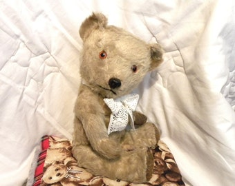 "Chiltern 1950's Bear - 15"" Mohair Bear - Vintage Chiltern Teddy Bear - Working Squeaker"