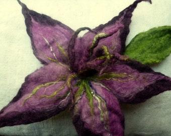 large felt flower for the scarf