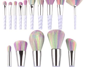 EASTER SALE!!! Unicorn Makeup Brushes VEGAN and Cruelty Free Multi Makeup Brushes. 10% sales donated to Breast Cancer