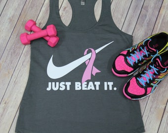 Just Beat It Breast Cancer Awareness Tank
