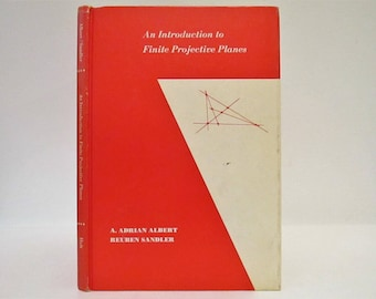 Vintage 1968 An Introduction to Finite Projective Planes by A. Adrian Albert Reuben Sandler Hardcover Book Mathmatics Holt Rinehart Winston