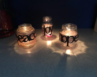 Peace, Hope & Joy Cabdleholders