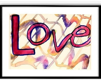 Love in Watercolor-high quality reproduction of an original watercolor artwork