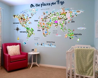 World map wall decal etsy gumiabroncs Images