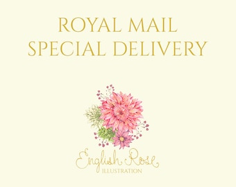 Royal Mail UK Only SPECIAL DELIVERY Guaranteed - Additional Tracked Postage Service