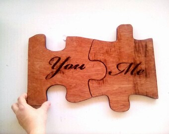 Personalized Gift, Happy Anniversary, Anniversary Gift, Dad Gift, Love Sign, Wedding Gift, Wedding Decor, Birthday Gift, Jigsaw Puzzle Piece