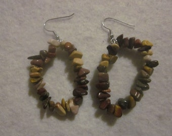 Natural Stone Looking Earring