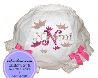 Crown Bloomer + Diaper Cover