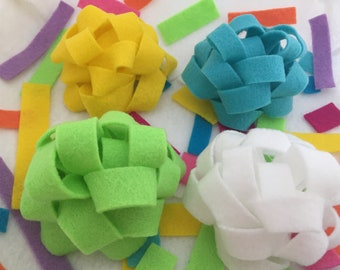 Reusable Bows- Party Pack- Set of 4 Medium (Choose your colors)