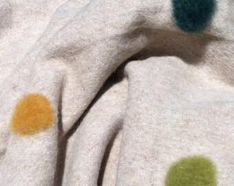 Organic Polka Dot Alpaca Wool Throw Blanket Custom