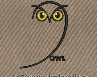 Owl - machine embroidery design, owl embroidery, owl design, owl embroidery design, machine embroidery owl