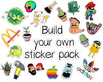 Custom Sticker Pack funny stickers vinyl stickers pack cute stickers pack  of stickers iPhone sticker sticker