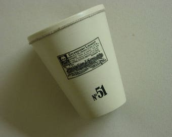 Empty pencil holder pocket in terracotta