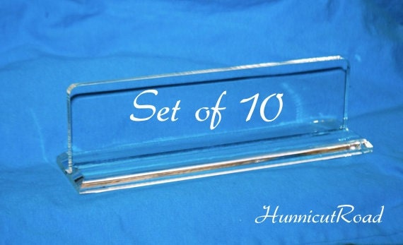 Fabulous Items similar to DIY Blank Acrylic Name Plate - Set of 10 - Desk  YK95