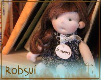 Susanna Doll, Doll, Stoffpuppe, Waldorf Doll, Soft Toy Doll, Pocket Doll, Puppe, Waldorf Inspired Doll, Play Doll,