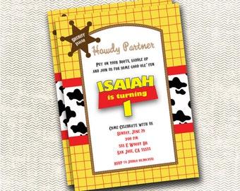 Toy Story Woody Birthday Invitation