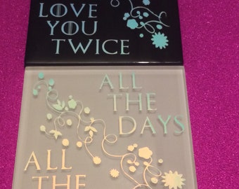 Mr and Mrs Tile Wedding Present Love....