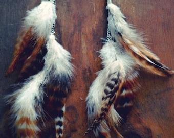 Native Wings Long Feather Earrings