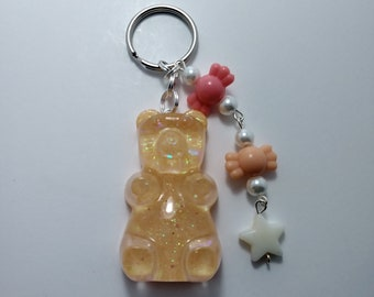 Orange Gummy Bear Keychain