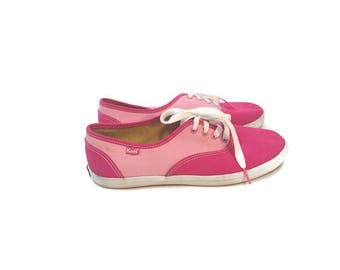 Vintage Pink 2 Toned Keds Sneakers / size 7.5