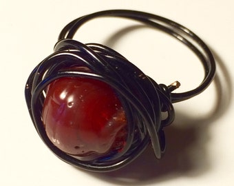 Crimson Tears Wire Ring