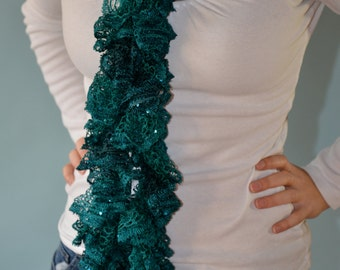 Sequin and Metallic Ruffle Scarves