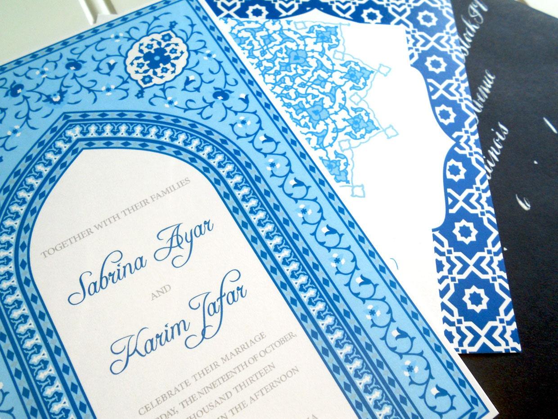 Moroccan Wedding Invitations Bohemian Morocco Invitations