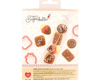 Mini Cookie Cutter Kit, Sweet Sugarbelle Strawberry and Chocolates Cookie Cutter Kit, Mini Cookie Cutter, Cookie Making Kit, Valentine's Day