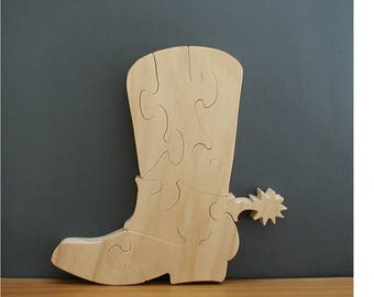 Western Boot Puzzle Cut On Scroll Saw