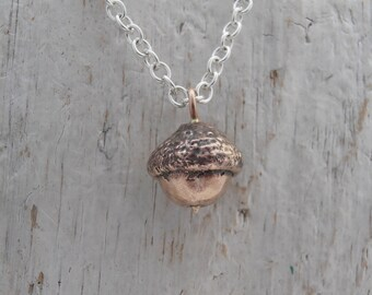 Bronze acorn necklace