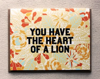 You Have the Heart of a Lion- Single Card