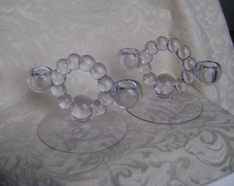 VINTAGE IMPERIAL CANDLEWICK Crystal Candleholders