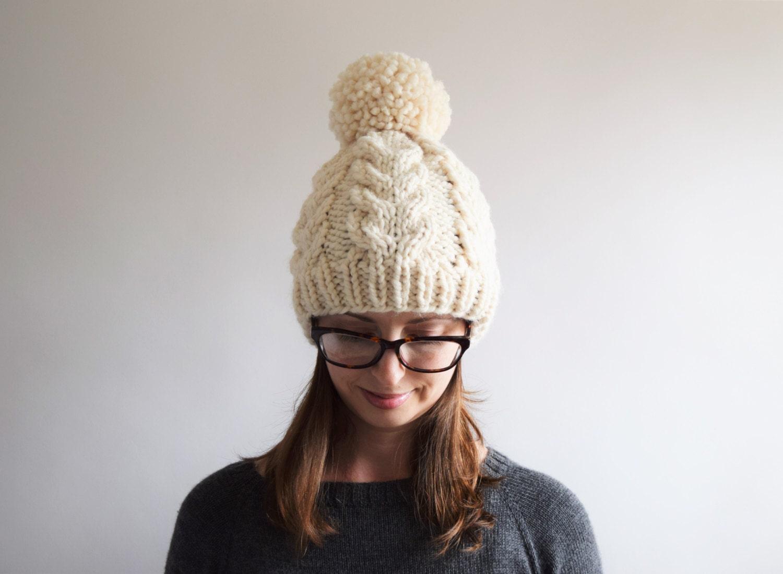 Cable Knit Hat Pattern // Cabled Hat Pattern // Cable Hat Pattern ...