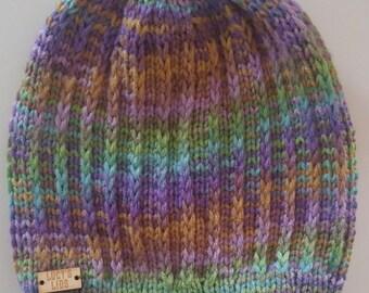 Hand-knit Textured Hat
