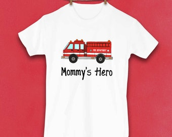 Fire engine, Firetruck shirt, Toddler shirt, Firefighter Kids, Cute Toddler Tshirt, Unique Clothes, Toddler Clothes, Gifts for kids