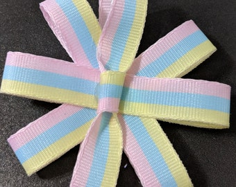 Pastel Striped Bow