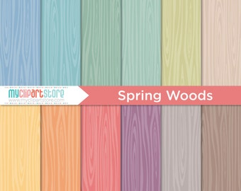 Digital Paper - Hand Drawn Spring Woods, Woodgrain, Boix Wood Texture, Scrapbook Paper, Digital Pattern, Commercial Use, JPEG
