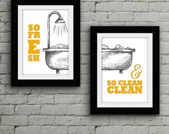 So Fresh & So Clean Print // Bathroom Art // Laundry Room // Printable // Typography // Lyrics // Wall Art // OutKast // Pop Culture Print