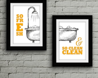 Exceptionnel So Fresh U0026 So Clean Print // Bathroom Art // Laundry Room // Printable //  Typography // Lyrics // Wall Art // OutKast // Pop Culture Print