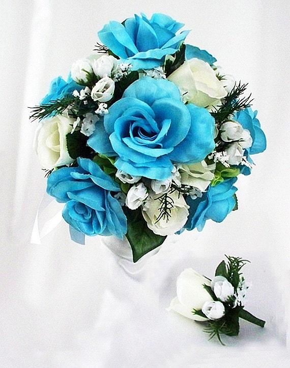 Türkis Strauß türkis Hochzeit Türkis Rosen türkis Blumen