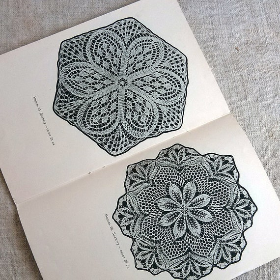 Knitting doilies How to doily Knitting pattern book Tutorial books ...